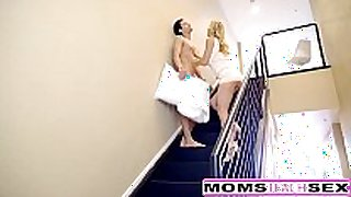 Squirting milf acquires creampie from sleepwalking son