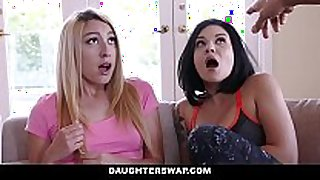 Daughterswap - dads fuck lesbian daughters