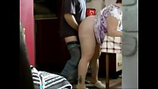 Chubby big ass maid sucking jock and fucking do...