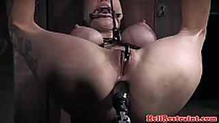 Bdsm sub anal penetrated with sex machine