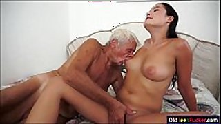 Dolly diore sucks off a grandpas jock and sits...