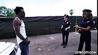 Two big arse female police officers acquire interrac...