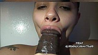 Military white slut sucks big black cock- dslaf