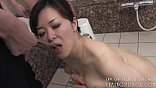 Submissive japanese doxy pleasing 10-Pounder in the b...