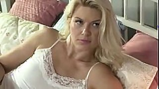 Mature slut fucks her stepdaughter with ding-dong