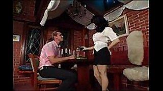 Busty german waitress