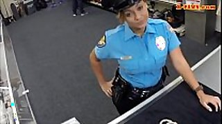 Huge pointer sisters police officer screwed at the pawnsho...
