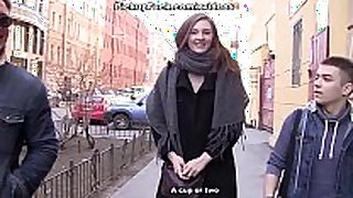 Sexy girls shows love bubbles to concupiscent tourists scene 3