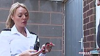 Pure xxx films corrupt police woman with giant love milk shakes