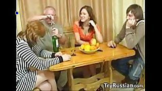 Old and youthful swingers from russia meet