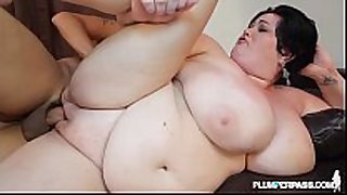 Huge tit milf bbw is oiled and drilled by pool