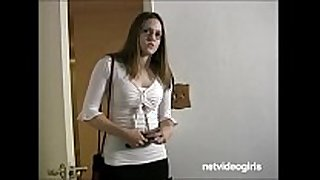 Shy giggly non-professional first time dirty talk