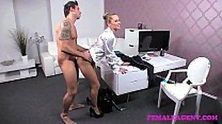 Femaleagent arrogant man put throughout his paces