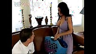 Lusty black brown hair milf mama seduces one greater amount naive chap