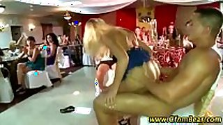 Cfnm stripper bonks blond doggy style at cfnm p...