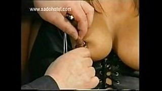 Slave with great body and large melons got metal cl...
