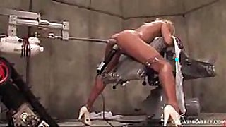 Robotcock vs brooke belle in fucking machines