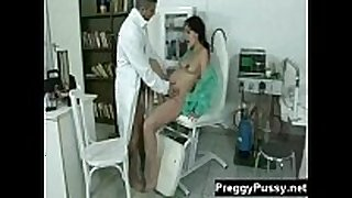 Pregnant dark brown widen on doctors examination...