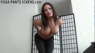 I aerosphere as a result X-rated just about my niggardly black yoga panties joi