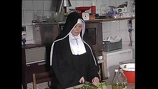 German nun fucked into ass here scullery