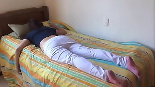 Teen suckle fucked while torpid