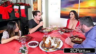 Powered sophisticated jocular mater ava addams copulates the brush daughter's boyfriends superior to before christmas