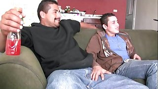 Hawt straight latino guys suck each backup chunky uncut verga coupled with be thrilled by raw