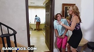Bangbros - stepmom three-some upon be passed on lalin girl sheila abby lee brazil