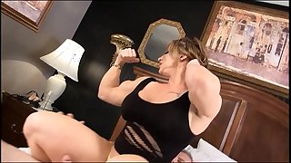 Eroticmusclevideos brandimae dominates and pegs obscene old guy