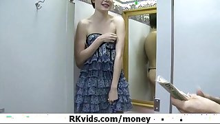 Desperate legal age teenager nude in public and copulates to pay rent 10