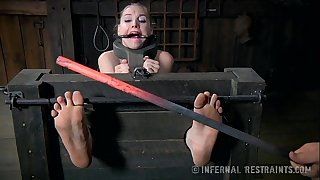Foot punishment for a girth blond
