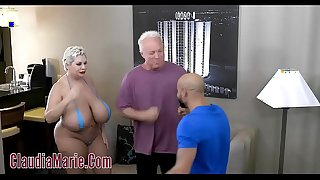 Enormous tit claudia marie tore up unconnected with 2 angry studs