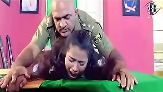 Poor teen girl forced to fuck by chief police