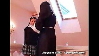 A nun and 3 school girls