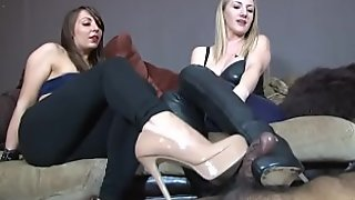 Footjob With High Heels