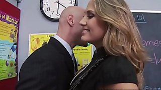 Big Tits at School - Mean Teacher Fuck Her Former Student scene starring Alanah Rae &_ Johnny Sin