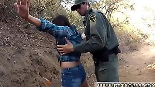 Cop threesome outside and male inmate first time Mexican border