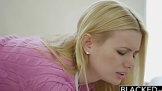Blacked miniature blond BBC slut kennedy kressler acquires revenge with a large dark jock