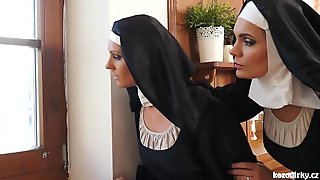 Catholic nuns and the monster! mad monster and snatches!