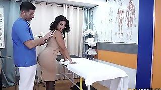 Fat bore fall on Kesha Ortega