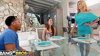BANGBROS - Stepmom Cherie Deville Fucks Riley Reid'_s Black Boyfriend, Ricky Johnson