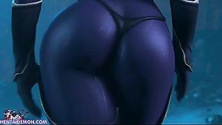 Hardcore Huge Cock Monster Fucking Sexy Anime Girl