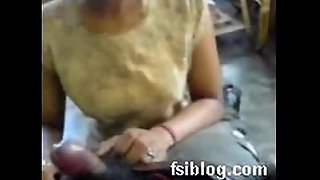 Indian Maid servicing the brush house master