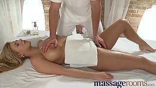 Massage Conformation Busty youthful girl is sensually oiled and penetrated deep be useful to orgasm