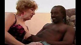 Lubricious Granny Goes Black