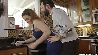 Guy fucks throat to wife and her step sister