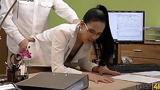 LOAN4K. Boss offers extra money for wet pussy and hot girl agrees
